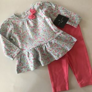Laura Ashley Baby Girl Floral Top & Pants Set